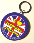 "Breloczek ""I love learning English"" (rozmiar 58mm) + twój napis"