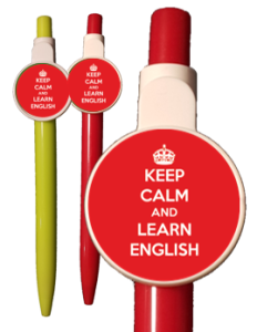 "Długopis: ""Keep Calm and Learn English"""