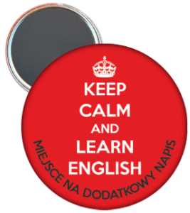 Magnes: Język angielski (Keep Calm and Learn English) + napis