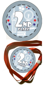 "Medal na tasiemce:  ""Second place 2"" + nadruk"