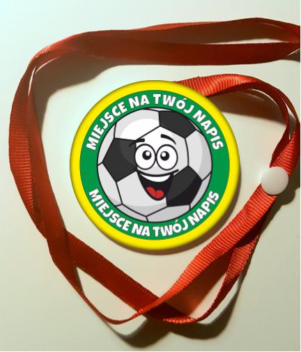 Medal z piłką nożną