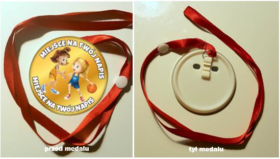 medal koszykówka dziewczynki