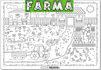 mega kolorowanka farma