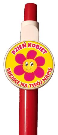 długopis dzień kobiet kwiatek