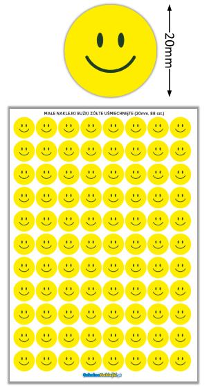 naklejki buźki żółte uśmiechnięte