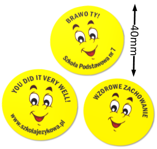 naklejki uśmiechy buźki żółte