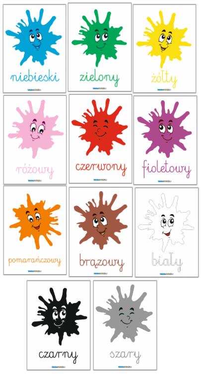 plansze edukacyjne kolory