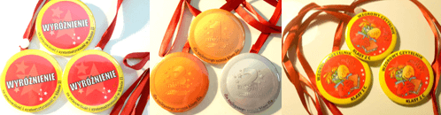 medale z tasiemką