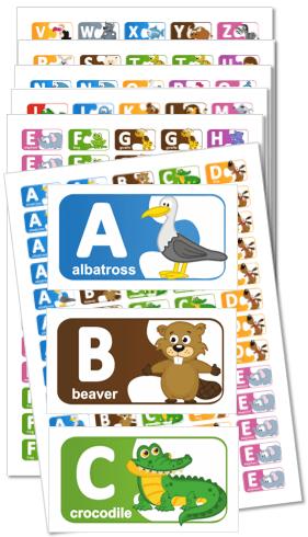 Male Naklejki Angielski Alfabet Zwierzaczki J Angielski